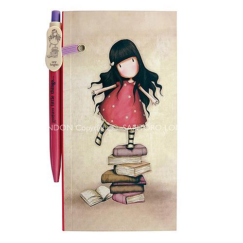 Bloco de notas com caneta