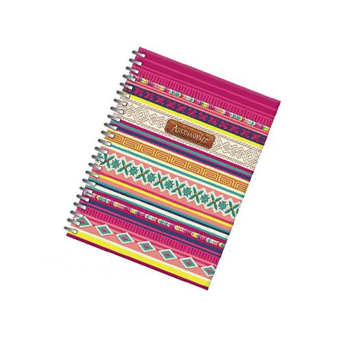 Caderno Quadriculado Capa Dura 120fls 70grs A5