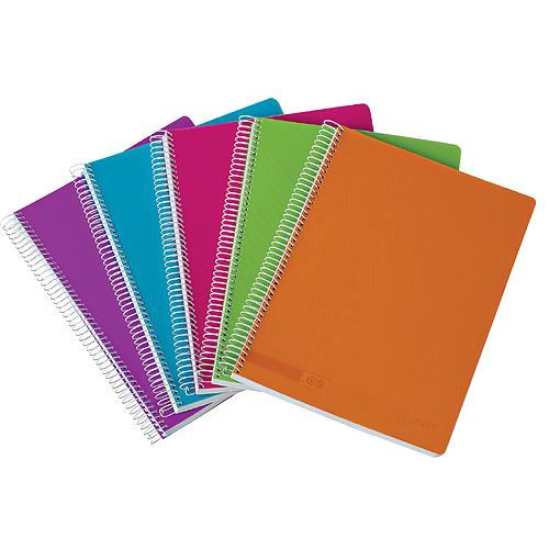 Caderno Capa Polipropileno Fashion Colors 120fls/70grs Classic Stripes A4 / A5